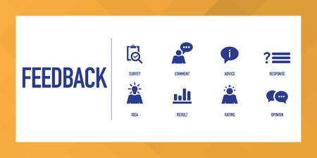 Feedback Infografik Icon Set