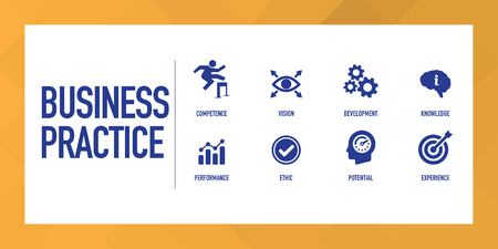 Business Practice Infographic Icon Set Stock Illustratie