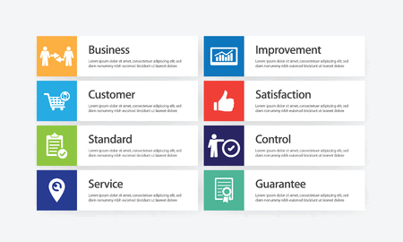 Quality Assurance Infographic Icon Set Vectores