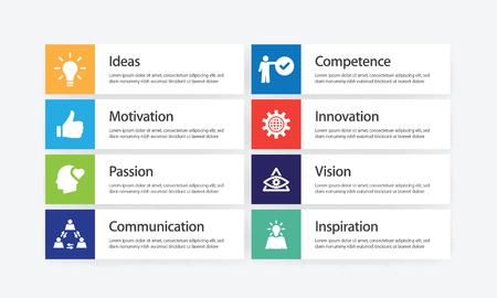 Ensemble d'icônes d'infographie d'excellence Vecteurs