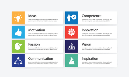 Excellence Infographic Icon Set Ilustrace