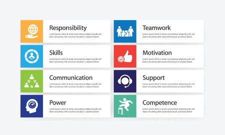 Leadership Infographic Icon Set Иллюстрация