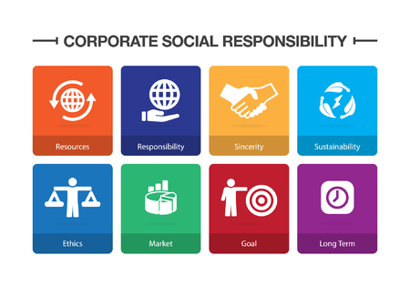 Corporate Social Responsibility Infographic Icon Set