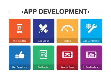 App Development Infographic Icon Set Illustration