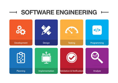 Software Engineering Infographic Icon Set