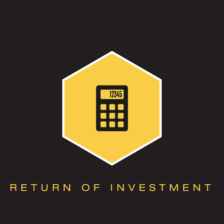 Return on Investment Icon Ilustrace