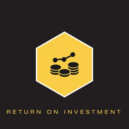 Return on Investment Icon Ilustrace