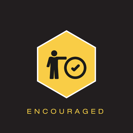 Encouraged Icon 向量圖像