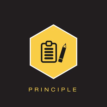 Principle Icon Illustration