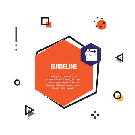 Guideline Infographic Icon Vettoriali
