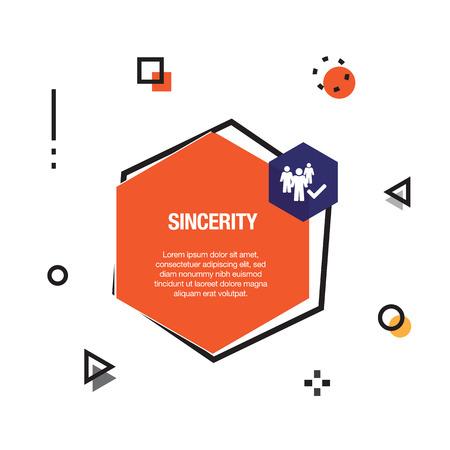 Sincerity Infographic Icon