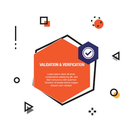 Validation & Verification Infographic Icon
