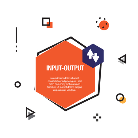 Input-Output Infographic Icon