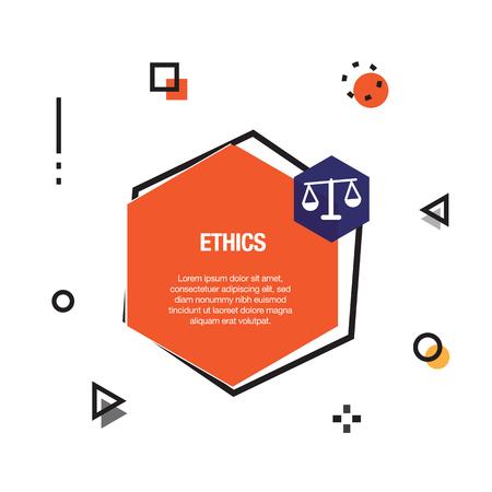 Ethics Infographic Icon Illustration