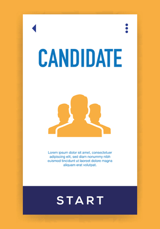 Candidate Icon Illustration