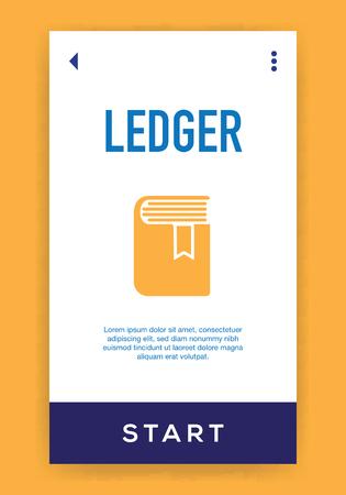 Ledger Icon Vector Illustration