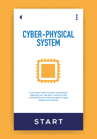 Cyber-Physical System Icon Vettoriali