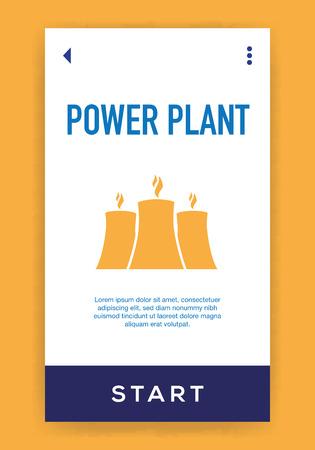 Power Plant Icon Illustration
