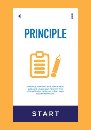Icône de principe Vecteurs