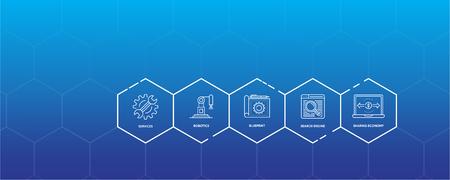Industry 4.0 Infographic Icon Set