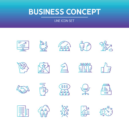 Business Concept Line Icon