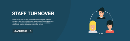 STAFF TURNOVER WEB BANNER 向量圖像