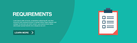 REQUIREMENTS WEB BANNER