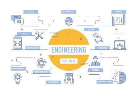 Engineering Icons Vektoros illusztráció