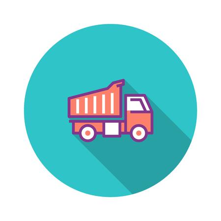 Heavy Duty Truck Flat Icon