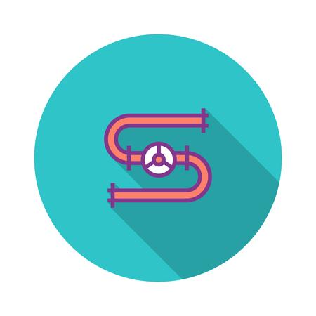 Gas Pipeline Flat Icon Stock Illustratie