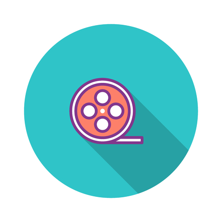 Film Role Flat Icon