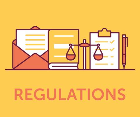 Concept d & # 39; icônes de réglementation