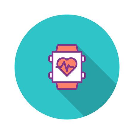Smart Watch Flat Icon Illustration