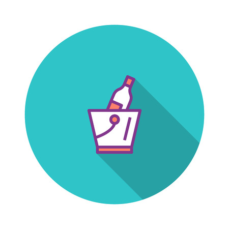 Ice Bucket Flat Icon
