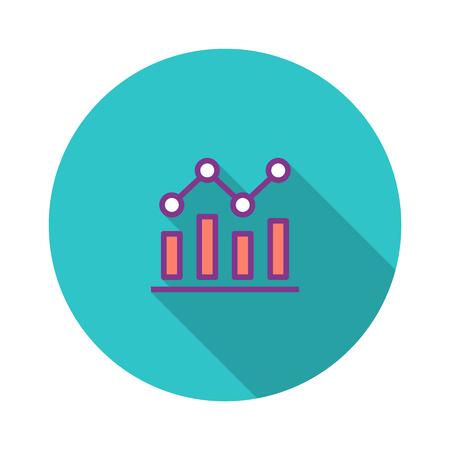 Keyword Rankings Flat Icon Illustration