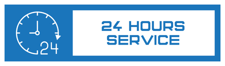 24 Hours Service Fill Icon Concept 일러스트