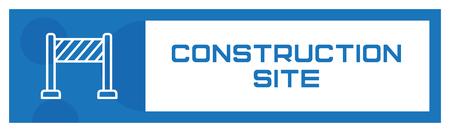 Construction Site Icon Concept
