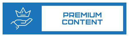 Premium Content Fill Icon Concept Ilustrace