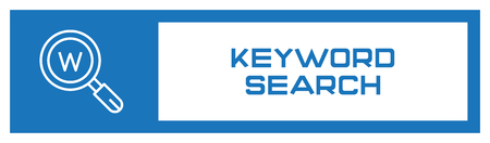 Keyword Search Fill Icon Concept