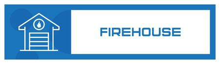 Firehouse Icon Concept Illustration