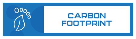 Carbon Footprint Icon Concept