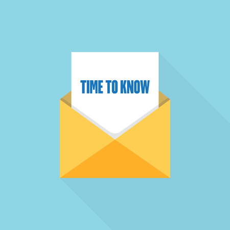 TIME TO KNOW LETTER MESSAGE