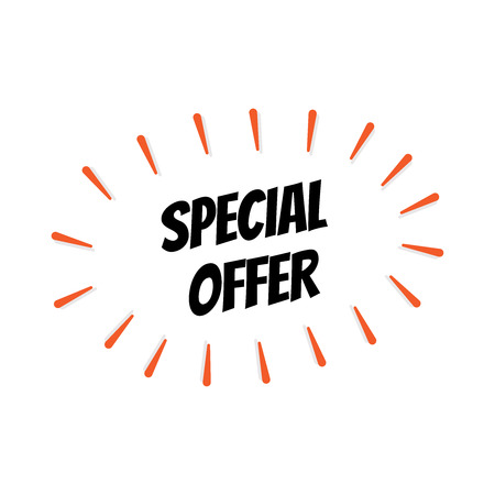 SPECIAL OFFER SIGN CONCEPT ISOLATED ON WHITE