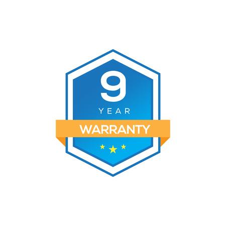 9 years warranty Illustration