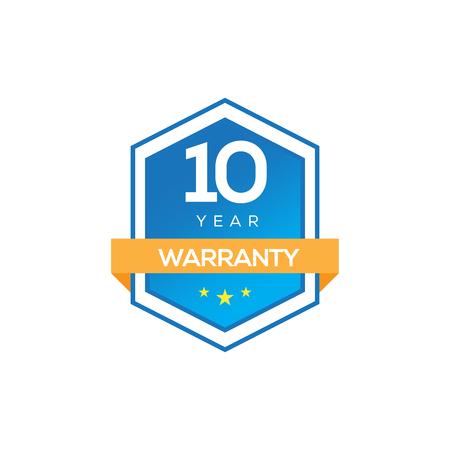 10 years warranty Illustration