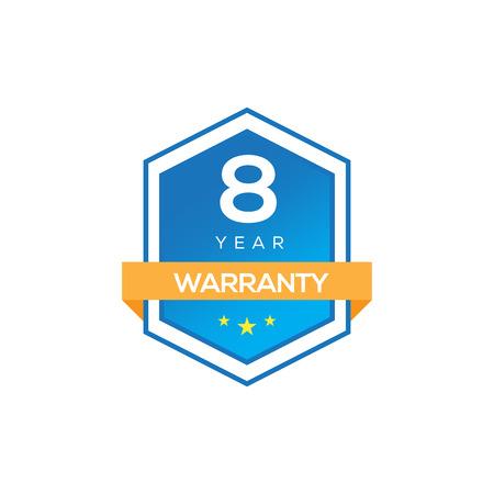 8 years warranty Illustration