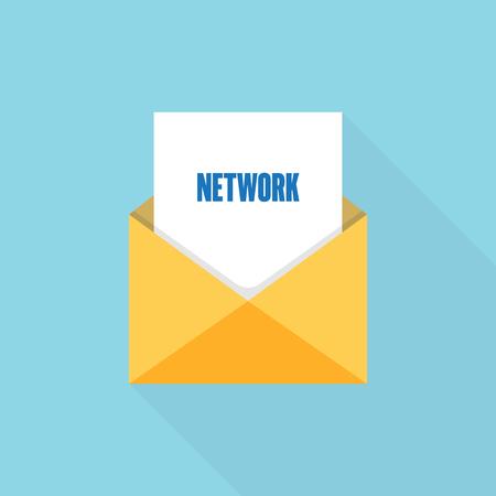 Network letter message Ilustrace