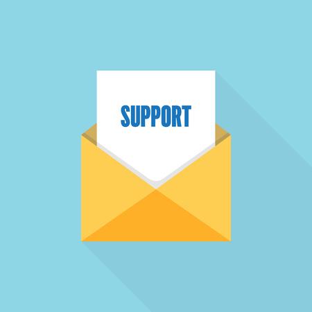 Support letter message Ilustrace