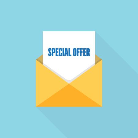 Special offer  letter message Stock Illustratie
