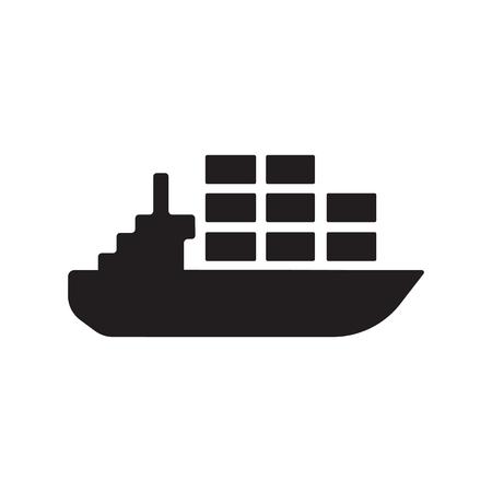 CARGO SHIP ICON CONCEPT